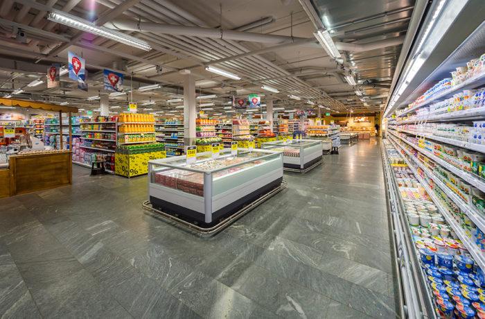 Granito Osernone levigato, supermercato Coop