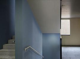 Granito Iragna fiammato (scala) Granito Riviera impallinato (corridoio) ex Latteria | Balerna